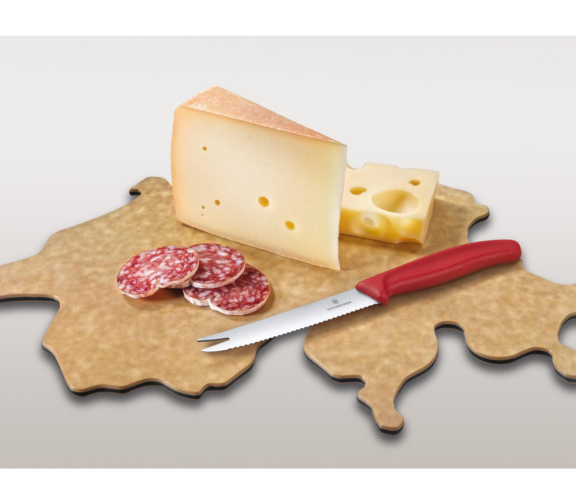 Švajčiarska kuchynská súprava salam syr
