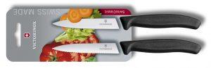 Victorinox Swiss Classic sada lúpacích nožov - čierna
