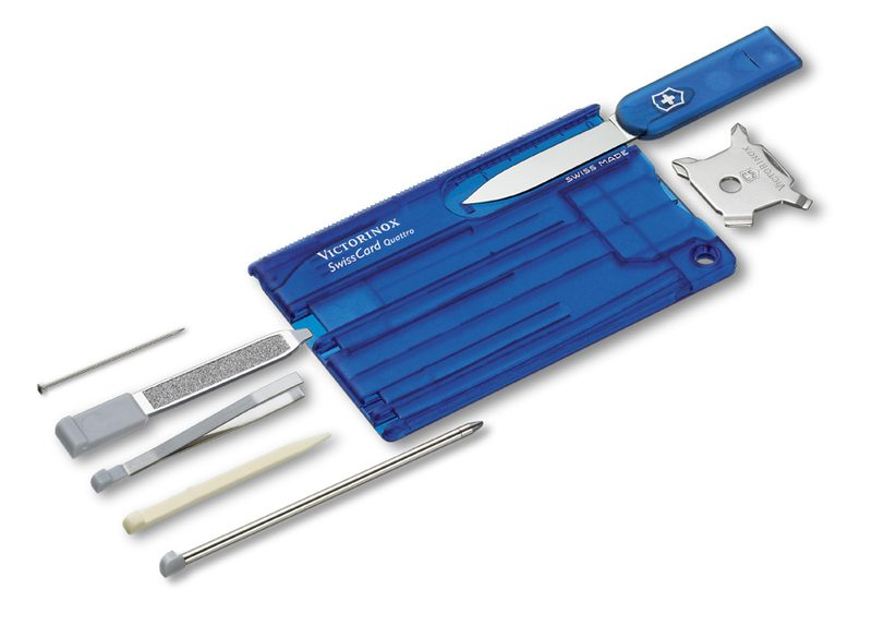 Victorinox SWISS CARD, Quattro, transparetna modra